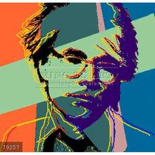Handmade Andy Warhol pop art painting, Andy in reverse