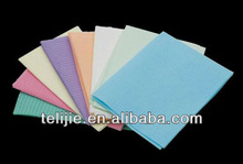 disposable medical bibs with ties pocket