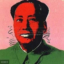Handmade Andy Warhol pop art painting, mao-pop art
