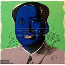 Handmade Andy Warhol pop art painting, mao
