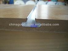Many color Cherry melamined MDF slatwall shoe shelf with aluminum slat