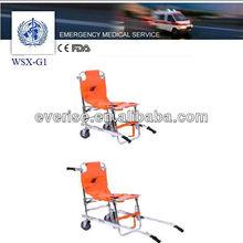 aluminum first aid emergency maneuver foldable stair wheelchair,emergency medical stair chair,folding stair chair