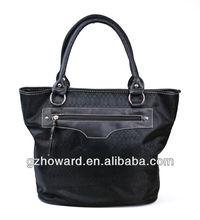 guangzhou factory lady handbag black purse