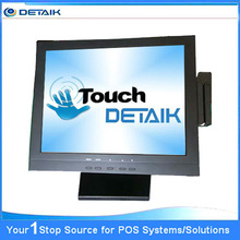 Brand new touch monitor LCD panel for POS termanl 15inch 1024*768 resolution resistive 4/5 touch screen with MSR