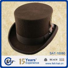 wholesale plain mini top hats, 100% pure wool
