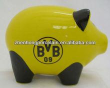 2013 New developed Pig shaped Ceramic Money bank