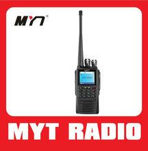 Superior voice and audio security IP54 waterproof&dustproof FDMA digital walkie talkie Can send message MYT-DP208
