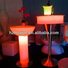 Comercial tamborete de barra/diodo emissor de luz de recarga tamborete mobiliário/cromada fezes