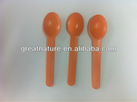 small ice cream plastic spoon