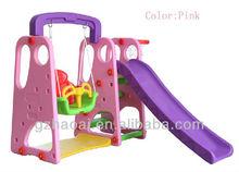 HL-1234 Children Amusement Park Plastic Swing And Slide Set