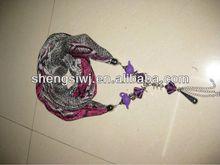 2014 fashion Printed scarf jewelry,Printed Scarf,beautiful Scarf striped tube scarf