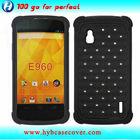 Case protection combo bumper case for LG Google Nexus 4 E960