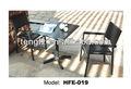 De madeira de teca e aço inoxidável de mesa e cadeiras/retangular mesa de jantar e cadeiras