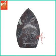 Mens pendant semi precious malachite stone