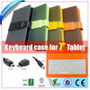 7 inch tablet pc leather keyboard case Full/Micro/Mini USB