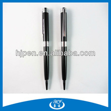 Fancy Black Screw Logo Promotion Pen Business Metal Ball Pen