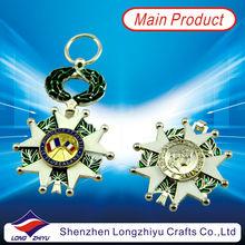 Emblem/lapel pins medal blank silver medal military medal keychain