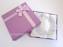 satin paper card gift box pattern