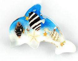 Unique REAL sea life 3d resin fridge magnet