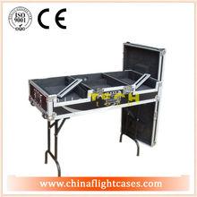 dj flight case,dj equipment flight case,turntable coffin case with portable stand- CDJ1000+DJM800&600+CDJ1000