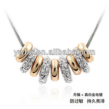String of happiness circle rings pendants necklace