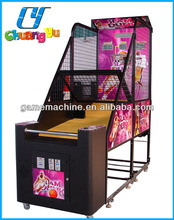 Street arcade game machine basketball