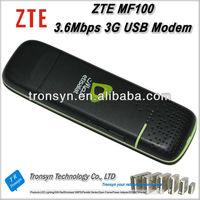 Original Unlock HSDPA 3.6Mbps ZTE MF100 3G Wireless USB Modem