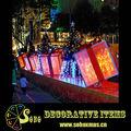 navidad caja de regalo con luces led fuera de decoraciones