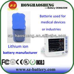 11.1v 4400mah rechargeable battery panasonic 18650 batterie pack