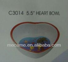 """c3014 5.5"""" melamine heart bowl"""