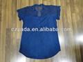 Mujer de encaje de algodón de la blusa