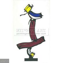 Handmade Roy Lichtenstein pop art still life oil painting, Brushstroke-Collage For Sculpture, 1992