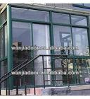Double glass aluminum doors for kitchen