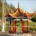 Oriental Asian style templo chino de la arcilla azulejos para el histórico paisaje sitios