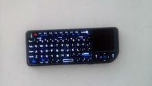 2.4G Oval Rii Mini Wireless Keyboard Combo Touchpad QWERTY Key