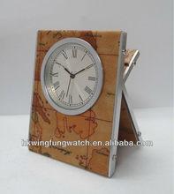 Aluminum Desk clock BYK /PU table clock