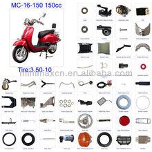 ATV parts Scooter parts Moped Parts Motorcycle Parts CG/CB/CG/GY6 50/70/90/110/125/200/250cc all parts available MC-16-150 150cc