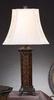 Auto Lamp Rose polyresin table lamp Tiffany