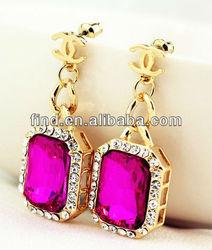 golden gem plastic bags for earring
