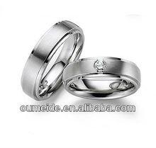diamond wedding hand made copper ring