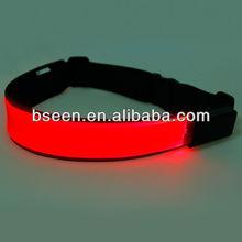 Led illuminated waist belts for motorcycling