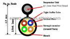 OPTICAL FIBER FTTx DROP CABLE 4 CORES