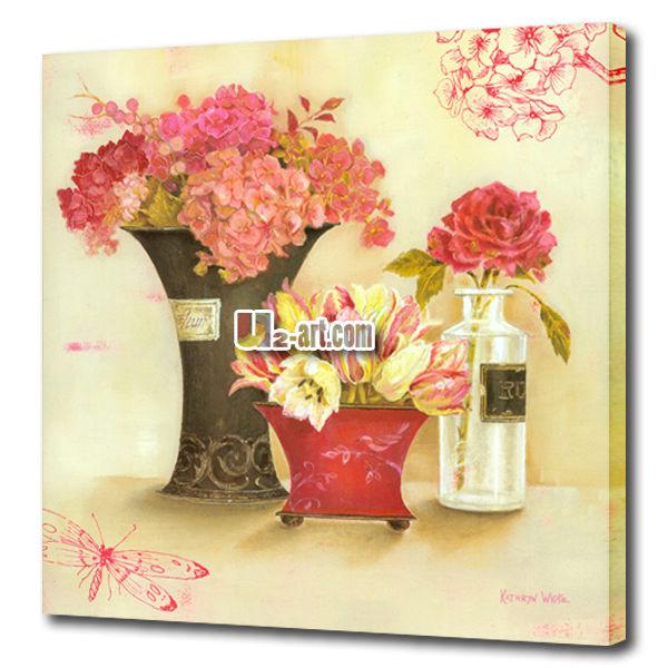 красивую картинку бабочки и цветы печатных картина маслом на холсте декора и подарков для продажи