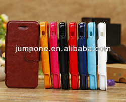 round button wallet leather Case with stand For iPhone 5C mini