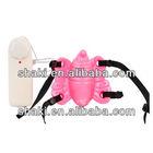 Strap On Butterfly (5015-01) rubber vibrator strap on dildo for men