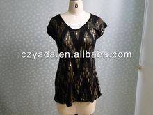 Mulheres new design frisado blusa para grávidas