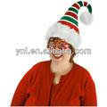 camellones sombrero de papá noel para adultos adolescente claus elf ayudante de rayas de navidad traje de accesorios