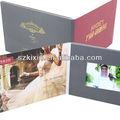 Pulgadas 4.3 invitación de la boda de la tarjeta de vídeo con el sello de oro