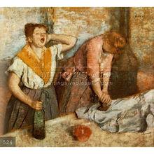 Handmade Edgar Degas impressionist portrait oil painting, Les repasseuses (Women Ironing)