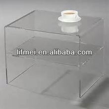 popular design acrylic display desk,custom acrylic display table